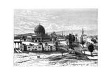 Omar's Mosque, Jerusalem, Israel, 1895 Giclee Print by Armand Kohl