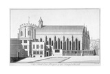 South-East View of Temple Church, City of London, 1737 Giclee Print by Benjamin Cole