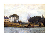 Boats on the Canal, 1873 Giclee Print by Alfred Sisley