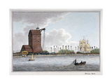 Brunswick Dock, Blackwall, London, 1801 Giclee Print by Charles Tomkins