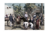 Starting for the Pyramids, 1874 Giclee Print by  Bromley
