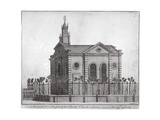South-West View of the Swedish Church, Prince's Square, Stepney, London, C1750 Giclee Print by Benjamin Cole