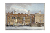 Queenhithe Flour Wharf, City of London, 1801 Giclee Print by Charles Tomkins
