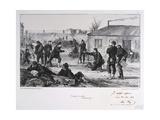 Pendant La Garde, Siege of Paris, Franco-Prussian War, November 1870 Giclee Print by Auguste Bry