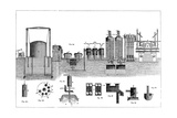 Sectional View of Liverpool Gas Works, 1860 Giclee Print by Charles Partington