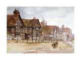 Village Street with Tudor Houses, C1864-1930 Giclee Print by Anna Lea Merritt
