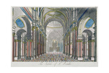 Interior of St Paul's Cathedral, Looking East from the Nave Towards the Choir, City of London, 1750 Giclee Print by Benjamin Cole