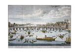 North Prospect of Westminster Bridge, London, C1750 Giclee Print by Benjamin Cole