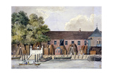View of the Steelyard from the River Thames, Upper Thames Street, London, C1801 Giclee Print by Charles Tomkins