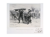Collecting Firewood, Siege of Paris, Franco-Prussian War, 1870 Giclee Print by Auguste Bry