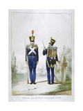 Uniform of a Regiment of Light Infantry, France, 1823 Giclee Print by Charles Etienne Pierre Motte