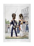 Uniforms of Foot Soldiers of the French Royal Corps, 1823 Giclee Print by Charles Etienne Pierre Motte