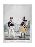 Uniform of the Royal Foot Gendarmes, France, 1823 Giclee Print by Charles Etienne Pierre Motte