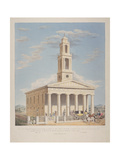 North West View of St George, Camberwell with Figures in the Front. Camberwell, London, 1827 Giclee Print by Charles Joseph Hullmandel