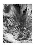 A German Shell Explodes in a British Trench, 1914, Giclee Print by Arthur C Michael