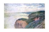 Steep Cliffs Near Dieppe, 1897 Giclee Print by Claude Monet