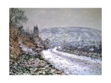 Entrance to the Village of Vetheuil in Winter, 1880 Giclee Print by Claude Monet