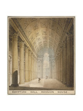 Interior View of the Egyptian Hall, Mansion House, City of London, 1820 Giclee Print by Charles Wild