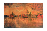 View of Venice from the Sea, C1896 Giclee Print by Charles Cottet