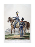 Uniform of a Squadron of Horse Artillery Train of a Swiss Regiment, France, 1823 Giclee Print by Charles Etienne Pierre Motte