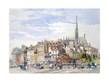 Saint Chapelle and Palace of Justice, C1822-1878 Giclee Print by Charles Claude Pyne