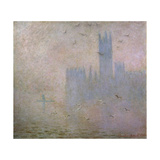 Seagulls, the Thames in London, the Houses of Parliament, 1903-1904 Giclee Print by Claude Monet