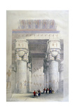 Portico of the Temple of Dendera, 19th Century Giclee Print by David Roberts