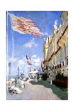 Hotel Des Roches Noires, Trouville, 1870 Giclee Print by Claude Monet