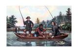 Catching a Trout, 1854 Giclée-Druck von  Currier & Ives