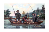 Catching a Trout, 1854 Giclee Print by  Currier & Ives
