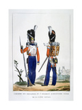Uniform of the Swiss Grenadiers 7th Regiment of Infantry of the Royal Guard, France, 1823 Giclee Print by Charles Etienne Pierre Motte