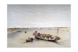 The Nile Looking Towards the Pyramids of Dahshur and Saqqarah, 19th Century Giclée-Druck von David Roberts