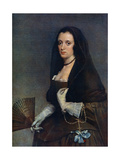 The Lady with a Fan, C1630-1650 Giclée-Druck von Diego Velasquez
