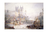 The Lord Mayor's Show at Westminster, 1830 Giclee Print by David Roberts