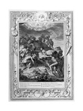 The Giants Attempt to Scale Heaven by Piling Mountains Upon One Another, 1733 Giclee Print by Bernard Picart