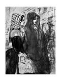 Gipsies, 19th Century Giclee Print by Constantin Guys