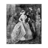 A Reception at Court, 19th Century Giclee Print by Constantin Guys