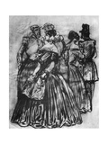 Off Duty, 19th Century Giclee Print by Constantin Guys