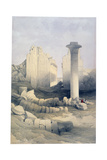 The Dromos or Central Hall of the Great Temple of Amun, Karnak, 19th Century Giclee Print by David Roberts
