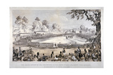 View of Hyde Park During the Volunteer Rifle Corps Review by Queen Victoria, London, 1860 Giclee Print by CJ Culliford