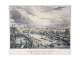 London Bridge, London, 1831 Giclee Print by Charles Etienne Pierre Motte