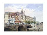 Saint-Michel Bridge, Paris, C1822-1878 Giclee Print by Charles Claude Pyne
