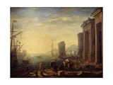 Morning in the Harbour, 1630S Giclee Print by Claude Lorrain