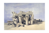 Temple of Sobek and Haroeris at Kom Ombo, 19th Century Giclée-tryk af David Roberts