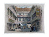 Courtyard of the White Hart Inn, Borough High Street, Southwark, London, C1860 Giclee Print by Charles Wilkinson