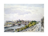 Paris, from the Window of the Salle D'Apollon in the Louvre Looking West, July 1867 Giclee Print by Charles Claude Pyne