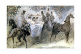 The Elegant Horse and Riders, C1822-1892 Giclee Print by Constantin Guys