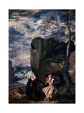 St Anthony and St Paul, the Hermit, 1645 Giclée-Druck von Diego Velasquez