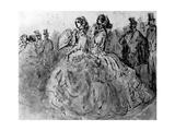 Promenade, 19th Century Giclee Print by Constantin Guys