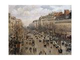 Boulevard Montmartre in Paris, 1897 Lámina giclée por Camille Pissarro